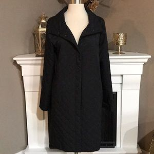 Eileen Fisher Black Quilted Coat